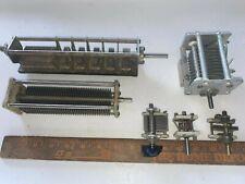 5 Variable Air Capacitors Ham Amateur Radio +