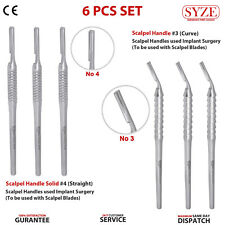 Scalpel Handle Blade #3 #4 Straight and Curved Angled Podiatry Surgery Tools