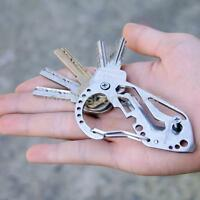 Multi Tool Carabiner Survival Camping Hiking Rescue Gear Mini Keychain COOL HOT
