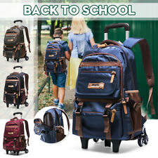 Student School Bag Teenager Travel Handbag Trolley Backpack Luggage + 2/6