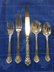 Vintage Gorham Chantilly Sterling Silver Five Piece Place Setting (P) Mono