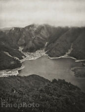1929 JAPAN Original Photo Gravure ~ LAKE SHOJI MOUNTAIN Landscape Art ~ ESTORFF