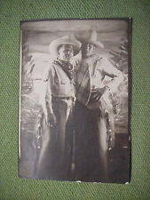 WWII GI SNAPSHOT PHOTO of 2 SOLDIERS  Dressed as GAY COWBOYS