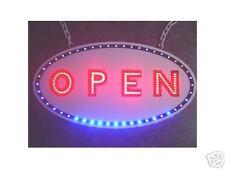 NEW OPEN SIGN LED neon w/ full blue led border animate