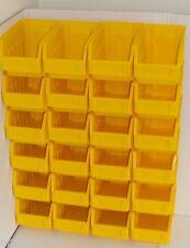 24 giallo grandi impilamento Storage Pezzi Contenitori per il garage box