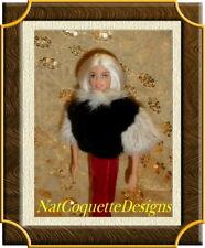 *~*Mink Fur Paw Stole For Fashion Royalty Marilyn Monroe Barbie Doll *~*