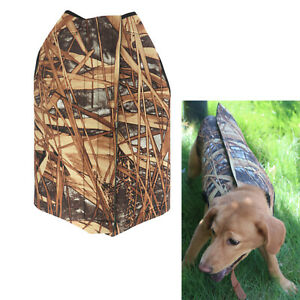 Tourbon Tactical Dog Vests for Duck Hunting Clothes Chest Parka Safety Camo Coat