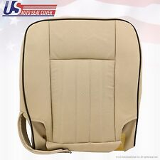 2006 Lincoln Navigator Passenger Bottom Perforated Leather Seat Cover Camel Tan