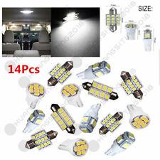 14x White LED Interior Package Kit T10&31mm Map Dome License Plate Light Festoon