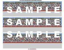 HO Slot Racing Open Grandstand Bleachers Decal Sheet #09