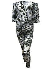 Women Off Shoulder Two Piece Suit Ladies Tracksuit Co Ord Set Top Trouser Dress