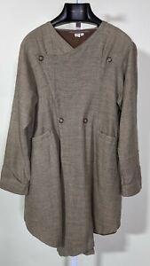 J Morgan Puett Vintage Handmade Artisan Linen Wool Jacket Large