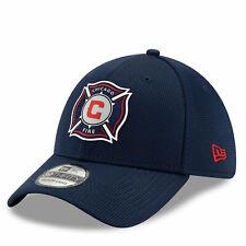 New Era Mens Chicago Fire New Era Mesh 39THIRTY Stretch Fit Cap - Blue