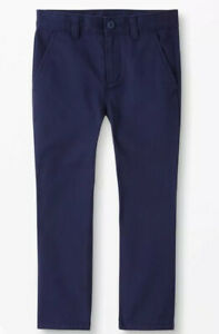 Hanna Andersson Boys peach Twill Chino Pants Size 130 8  Navy Blue NWT $46