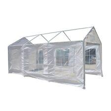 ALEKO Caravan Canopy Polyethylene Sidewalls White Walls 10X20 Carport