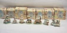 Lot of 7 Enesco Blushing Bunnies Figurine Collectibles in Boxes New and Used
