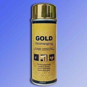 Gold Chromspray, hochglänzender Acryl Lack goldfarben, Goldspray, Lackspray