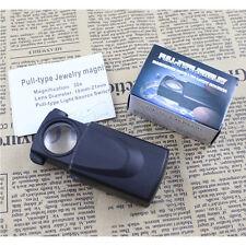 1PCS 30X LED Light Lamp Jeweler Magnifier Magnifying Eye Loupe Glass Len Popular