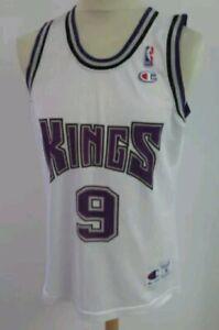 "Champion Sacramento Kings Tariq Abdul Wahad NBA jersey 42"" M #9 France Exclusive"