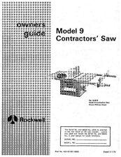 Delta 34-619 Model 9 Contractors Table Saw Instruction Manual