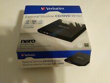 Verbatim External Slimline CD/DVD Writer Mac Windows Compatible