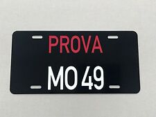 Prova MO 49 Italian License plate tag Ferrari Lamborghini Alfa Romeo  Fiat
