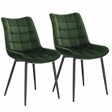 2er Set Esszimmerstühle Küchenstühle Sitzfläche aus Samt Metallbeine BH142dgn-2