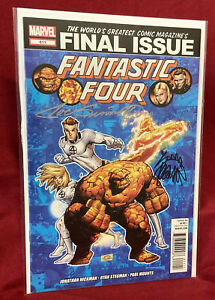 Marvel Comics FANTASTIC FOUR 611 Final Issue Signed Joe Sinnott & Ryan Stegman