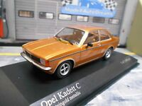 OPEL Kadett C Stufenheck Limousine 1978 gold met Minichamps PMA RAR 1:43