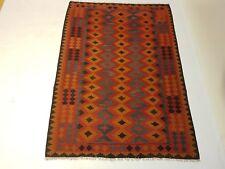 7'8 x 5'4 Handmade Flat Weave Afghan Kilim Carpet Nomad Kelim Wool Area Rug 6217