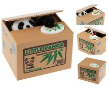 NEW Automatic Stole Coin Piggy Bank Money Saving Box Ola Panda Thief Moneybox