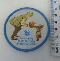 2 x Beatrix Potter 150th Birthday Girlguiding Badges Camp Blanket Guides