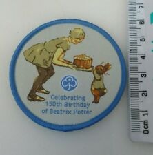 Beatrix Potter 150th Birthday Girlguiding Badge. Camp Blanket. Guides Brownies