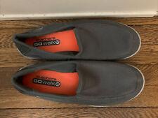 Skechers Go Walk 2 Mens Gray Canvas Casual Comfort Sneakers Size 13
