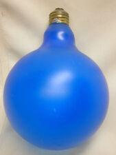 Large Round Light Bulb 25W Blue