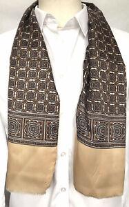 Mens Vintage Silk Style Scarf Paisley Patterned Retro Cravat Necktie Lined