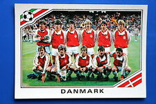 Panini WC MEXICO 86 STICKER N. 347 DANMARK TEAM WITH BACK VERY GOOD/MINT