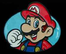 SUPER MARIO BROTHERS MARIO BELT BUCKLE NICE COLORS LICENSED NEW!