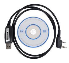 USB Programing Cable Program Software CD for Baofeng UV-5R BF-888S Radios New US