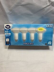 LED Light Bulb, 9W (65W Equivalent) BR30 Floodlight E26 Med Base 4 pk Y5