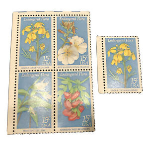 13-913 15 Assorted Flowers  US  Cancelled Postage sTamps