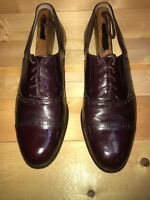COLE HAAN MEN'S OXFORDS Burgundy/brown Leather US Size 9.5