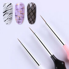 3Pcs Set UV Gel Liner Brush Painting Acrylic Pen Gourd Handle Nail Art Tools New