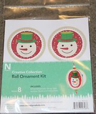 Winter-Christmas-Creative Ornament-Ball Kit(makes 8)-Snowman-New