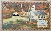 """Vintage Warren Vintage Series Church in the Glen 1500 piece 21"""" x 34"""" puzzle"""