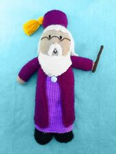 KNITTING PATTERN - Dumbledore inspired 32 cms soft toy Harry Potter Wizard doll