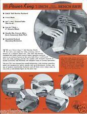 Tool Brochure - Power King - TS-7 - 7-inch Bench Saw - 1939 (TL23)
