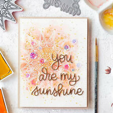 New listing Words You are my sunshine metal Cutting Dies Stencils For Card Craft Decor G Upe