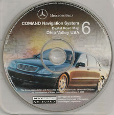 2000 to 2003 Mercedes Navigation CD Map 6 Cover KY WV +Partial OH NY IN PA MD TN