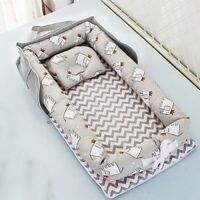 Baby Crib Portable Crib Foldable Sleeping Bed Cushion Cotton Nest Bedding Basket